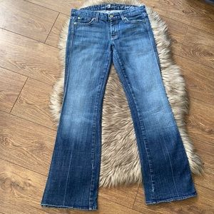 """7 For All Mankind """"A"""" Pkt Flip Flop Bootcut Jeans"""